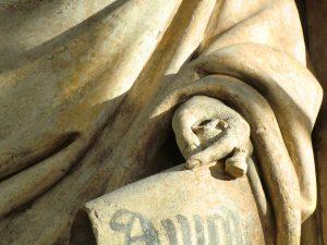 Encrier de Zacharie, Puits de Moïse, Dijon, ancienne Chartreuse de Champmol